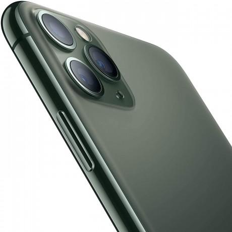 Apple iPhone 11 Pro Max with FaceTime - 256GB, 4GB RAM, 4G LTE, Midnight Green, Single SIM & E-SIM