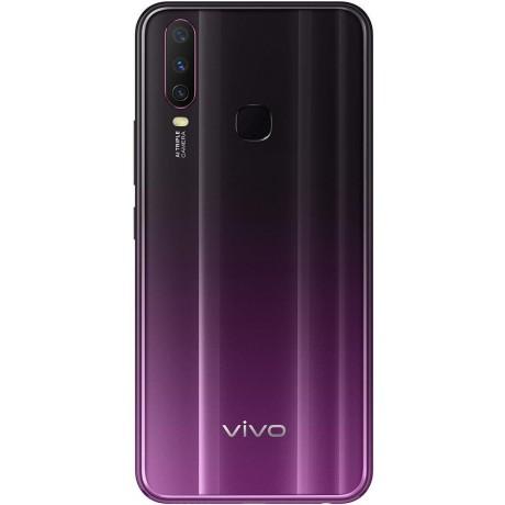 Vivo Y17 Dual SIM Mobile Phone, 6.35 Inch, 4GB RAM, 128 GB, 4G LTE - Mystic Purple