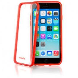 إكستريم ماك غطاء ايفون6شفاف الاطار، أحمر