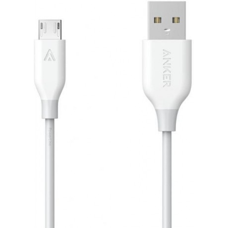 Anker Usb charger for Samsung Galaxy mobiles,orginal cable with guarantee ,high speed data transfer and speed charging,white colour