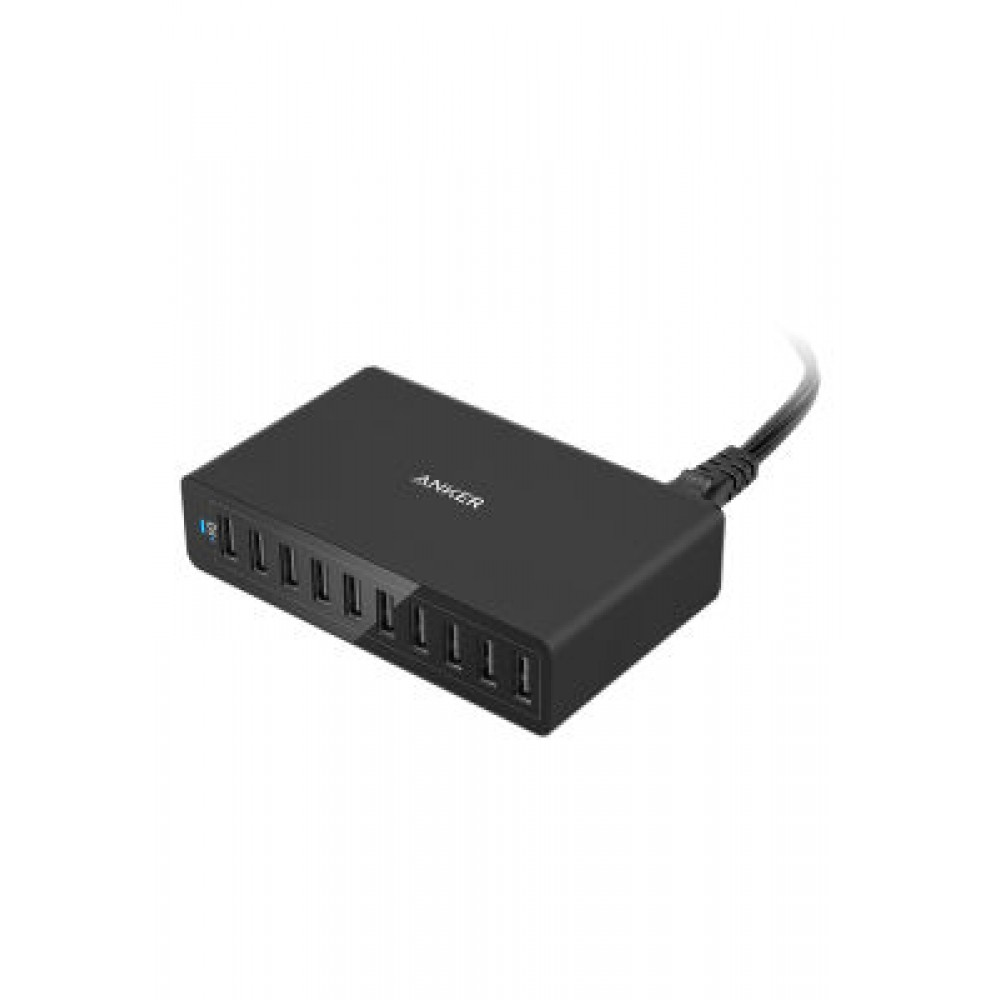 Anker PowerPort+ 1 with Quick Charge 3.0 Wall Charger Black Plus Anker Micro USB Cable Black,B2013K11,Orginal Product