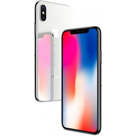 Apple iPhone X with FaceTime - 64GB, 4G LTE, Silver