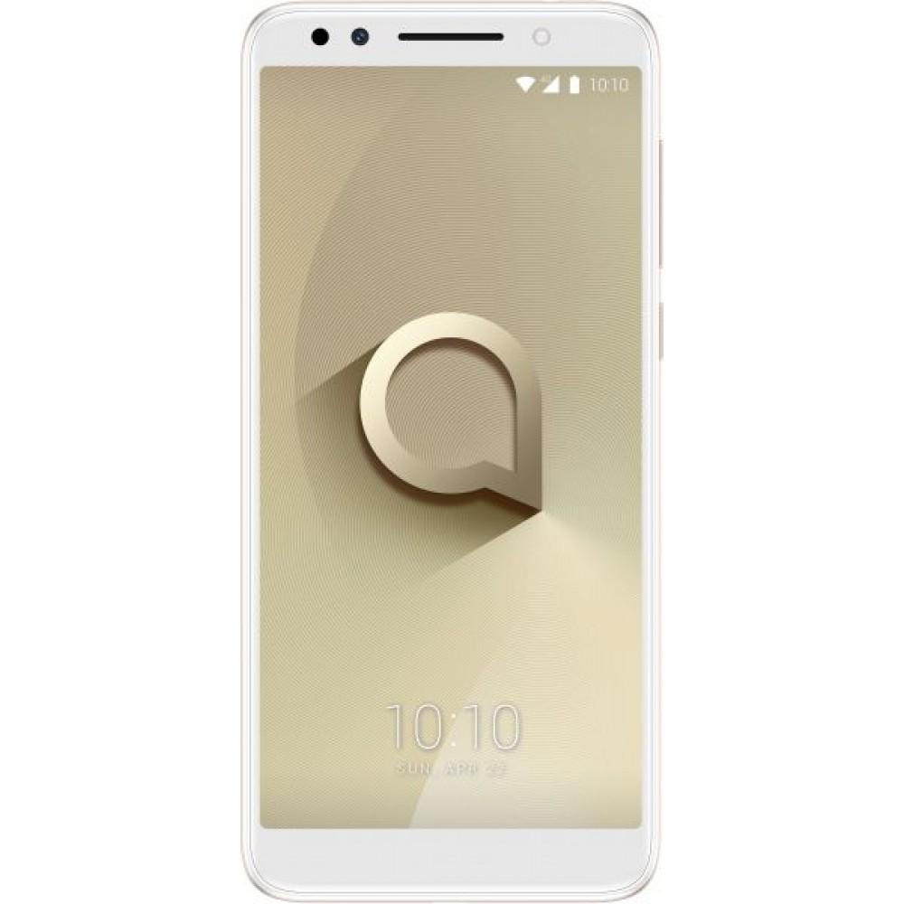 Alcatel 3X Dual SIM - 32GB, 3GB RAM, 4G LTE, Metallic Gold