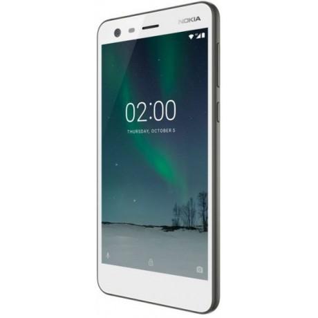 Nokia 2 Dual SIM - 8GB, 1GB RAM,  4G LTE, Pewter/White