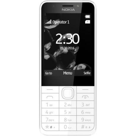 Nokia 230 - 2.8 Inch, 16MB RAM, GSM, White