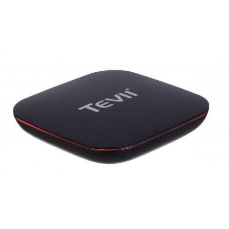 TEVII P500 Android Box HD Built In WiFi Video Recorder with IR Remote Control - Black