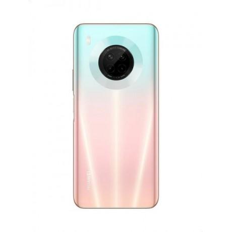 Huawei Y9a Mobile Phone, Dual SIM - 128 GB, 8 GB RAM, 4G LTE - Sakura Pink with Power Bank, 10000 mAh - White