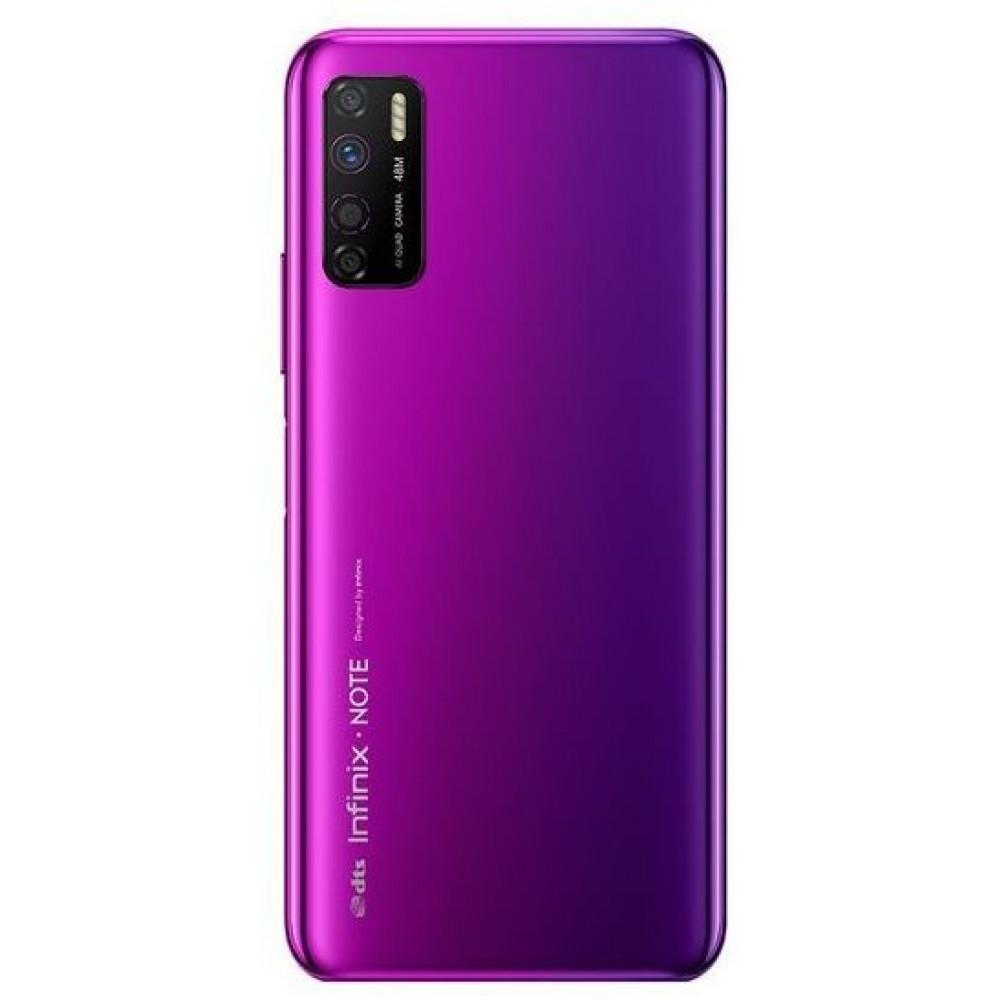 Infinix Note 7 Lite Dual SIM Mobile Phone, Quad Rear Cameras, 6.6 Inch Touch Screen, 4 GB RAM, 128 GB Storage, 4G LTE - Violet