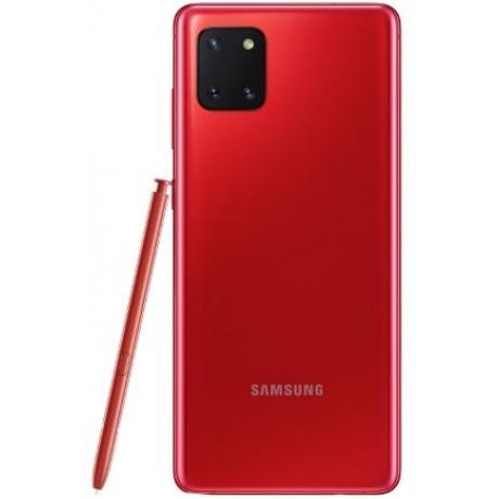 Samsung Galaxy Note 10 Lite Dual SIM - 128GB, 8GB RAM, 4G LTE, Aura Red