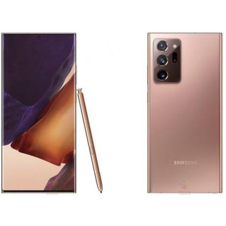 Samsung Galaxy Note 20 Ultra Mobile Phone, Snapdragon, Hybrid Dual SIM, 6.9 Inch, 256 GB, 12 GB RAM, 5G LTE, 4500mAh - Mystic Bronze