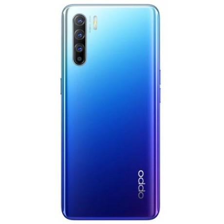 OPPO Reno3 Dual SIM Mobile - 6.4 Inch, 128 GB, 8 GB RAM, 4G LTE - Aurora Blue