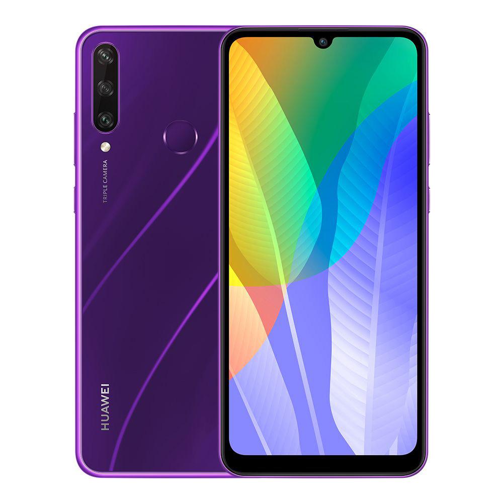 Huawei Y6p Dual SIM - 64 GB, 3 GB RAM, 4G LTE - Phantom Purple