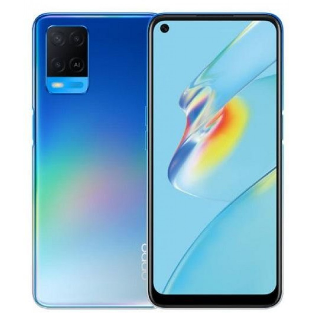 OPPO A54 Dual SIM Mobile Phone - 6.51 inch, 128 GB, 6 GB RAM, 4G LTE - Starry Blue
