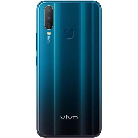 Vivo Y17 Dual SIM Mobile Phone, 6.35 Inch, 4GB RAM, 128 GB, 4G LTE - Mineral Blue