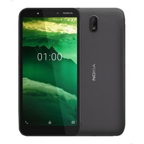Nokia C1, Dual Sim, 5.45 Inch, 16 GB, 1 GB RAM, 3G - Charcoal