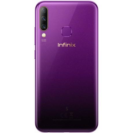 Infinix S4 X626B Dual SIM - 6.2 Inch, 64 GB, 6G RAM, 4G LTE - Purple