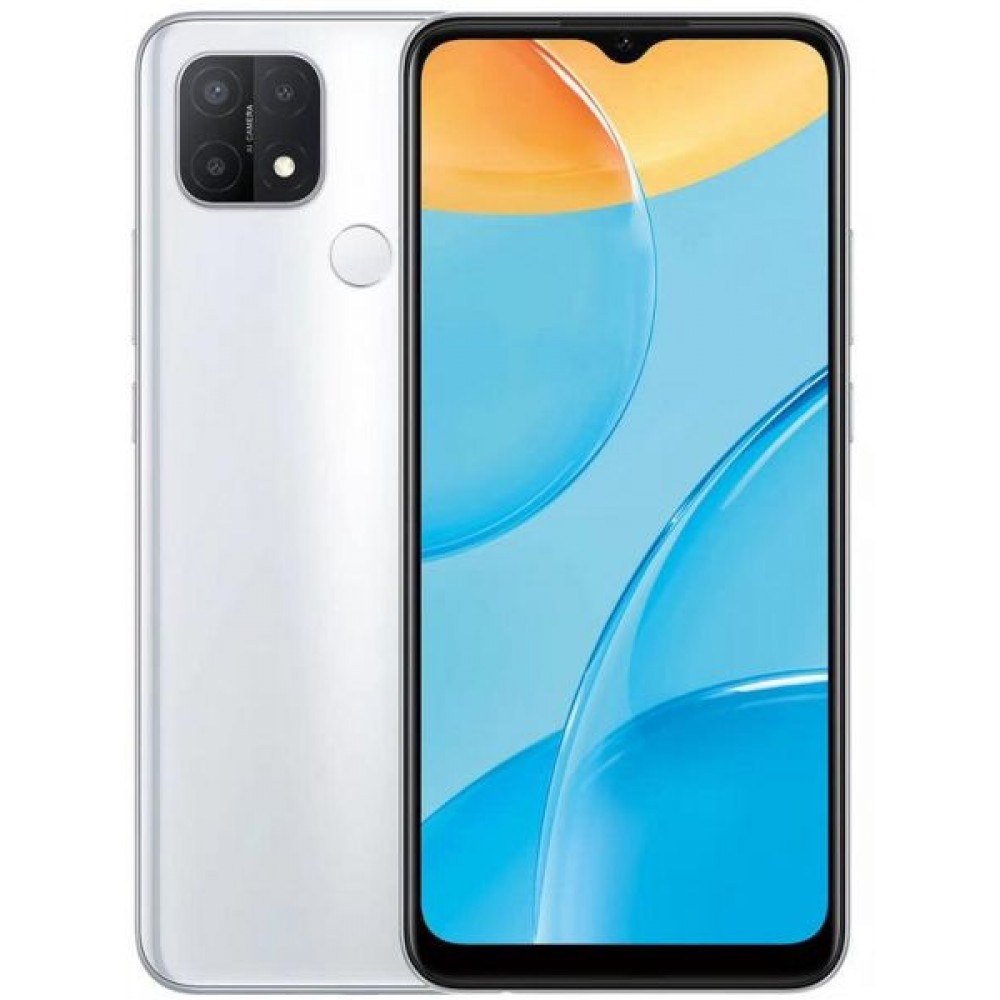 OPPO A15 Dual Sim Mobile - 6.5 Inches, 32 GB, 3 GB RAM, 4G LTE - Fancy White