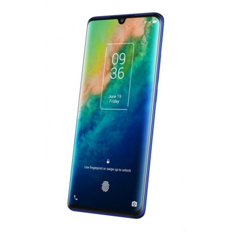 TCL 10 Plus Mobile Phone, Dual SIM 6.47 Inch, 256 GB, 6 GB RAM, 4G - Moonlight Blue