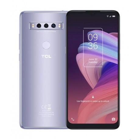 TCL 10 SE Mobile Phone, Dual SIM 6.52 Inch, 128 GB, 4 GB RAM, 4G - Icy Silver