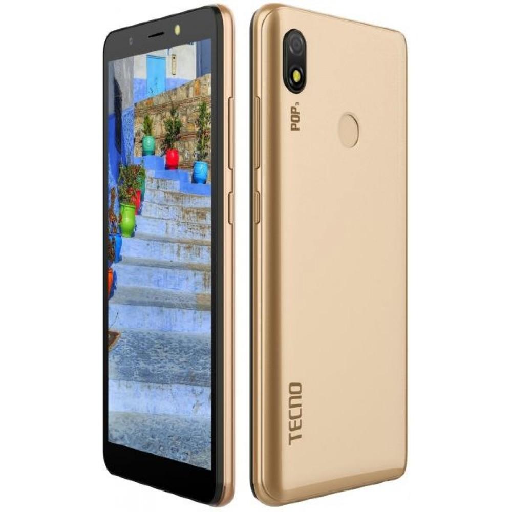 Tecno POP 3 Dual SIM - 5.7 Inch, 16 GB, 1 GB RAM, 4G - Champagna Gold
