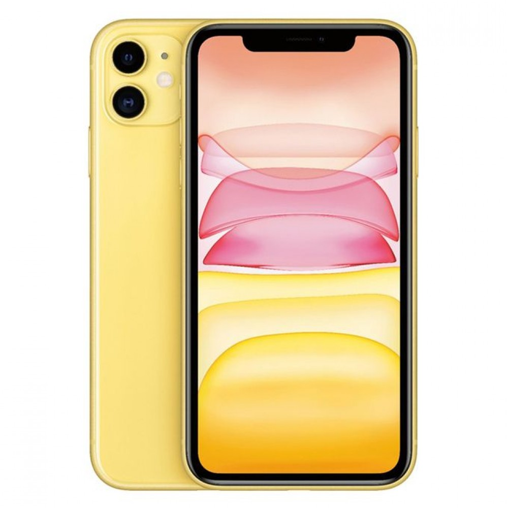 Apple iPhone 11 with FaceTime - 64GB, 4GB RAM, 4G LTE, Yellow, Single SIM & E-SIM