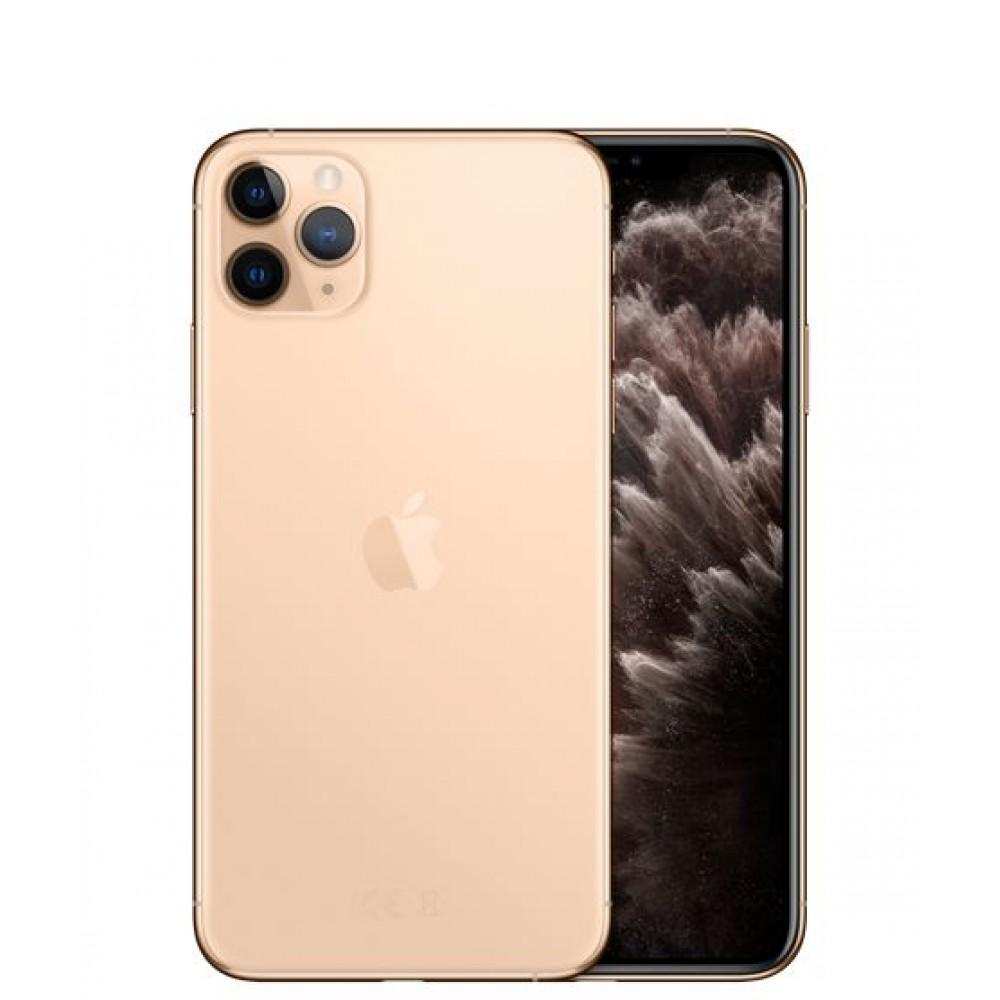 Apple iPhone 11 Pro Max with FaceTime - 512GB, 4GB RAM, 4G LTE, Gold, Single SIM & E-SIM