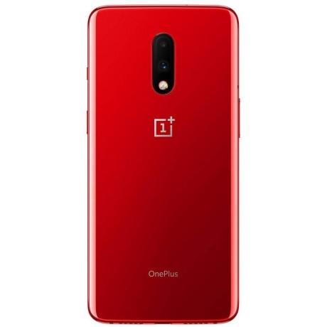 OnePlus 7 Dual SIM - 256GB, 8GB RAM, 4G LTE, Red