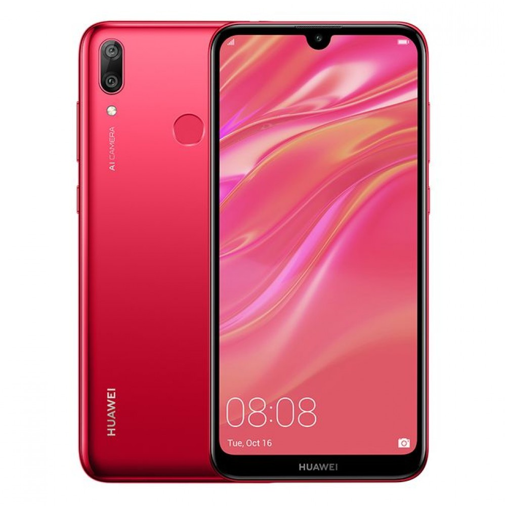 Huawei Y7 Prime (2019) - 6.26-inch 32GB Mobile Phone - Coral Red