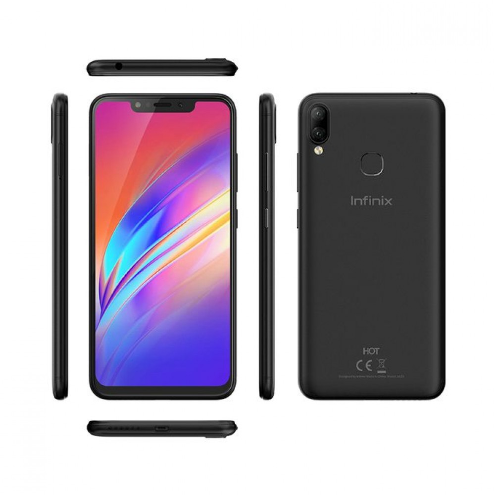 "Infinix X623 Hot 6X HD - 6.2"" 4G 32GB Mobile Phone - Midnight Black"