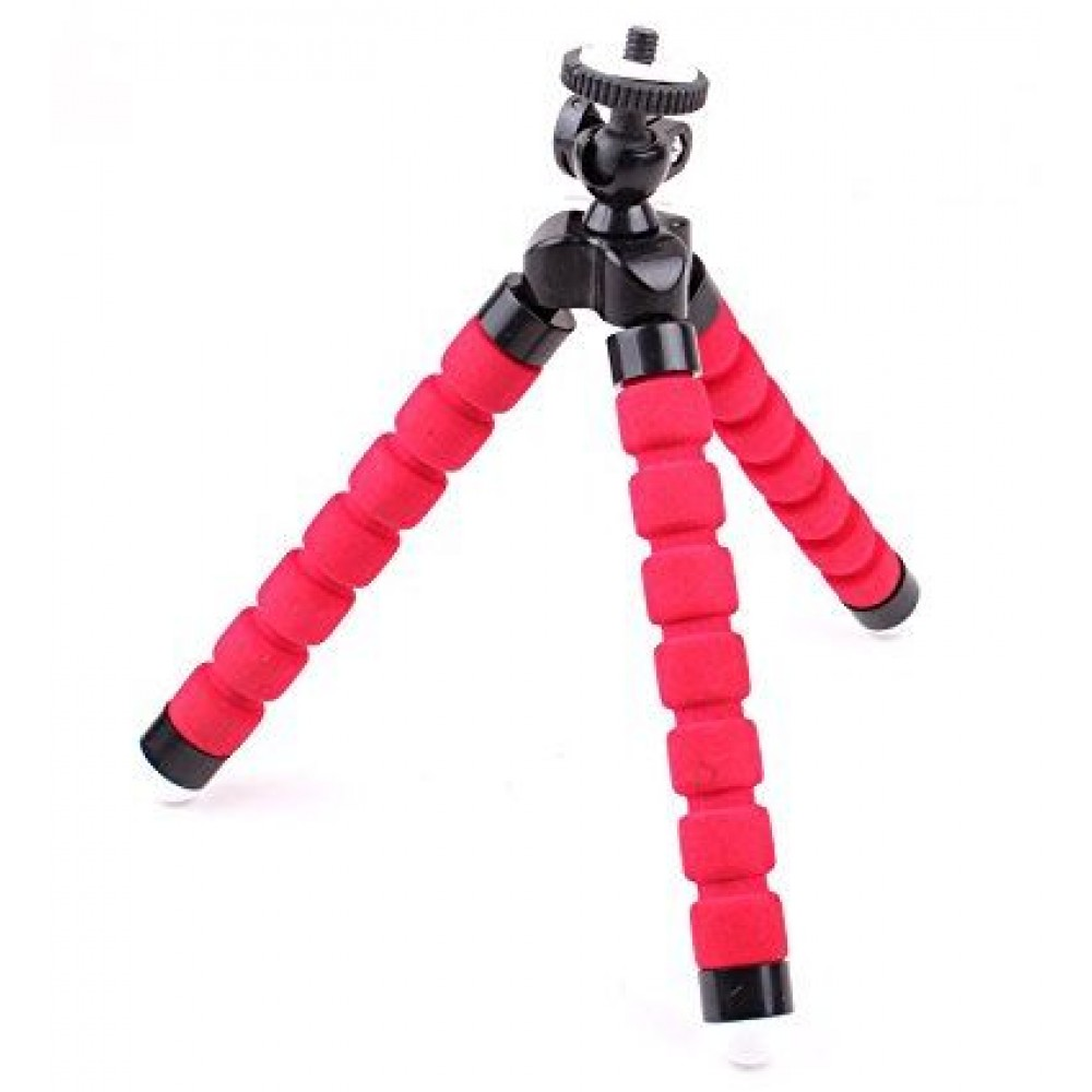 YaFex Adjustable Mini Octopus Cell Phone Tripod, Flexible Phone Tripod for Any Smartphone, iPhone, with Universal Clip