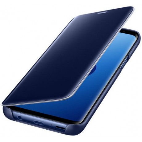 Samsung Galaxy S9 Clear View Standing Cover - Blue, EF-ZG960C