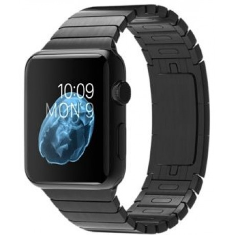 Apple Watch - 42mm Space Black Stainless Steel Case with Space Black Link Bracelet, MJ482