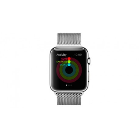 Apple Watch - 42mm Stainless Steel Case with Milanese Loop, MJ3Y2