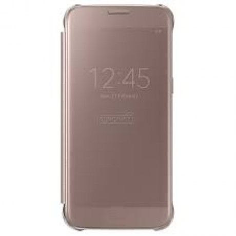 SAMSUNG Galaxy S7 clear view cover pink gold