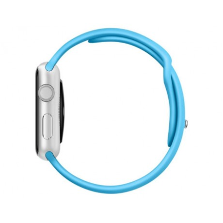 Apple Watch - 42mm Silver Aluminum Case with Blue Sport Band, WatchOS 2, MLC52