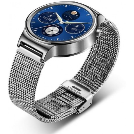 Huawei 42mm Smart Watch Stainless Steel with Stainless Steel Mesh Band