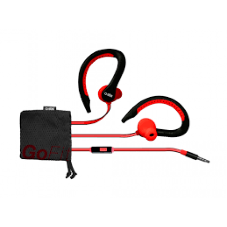 SBS Runway Flat Sport Earphones Water-proof, RED