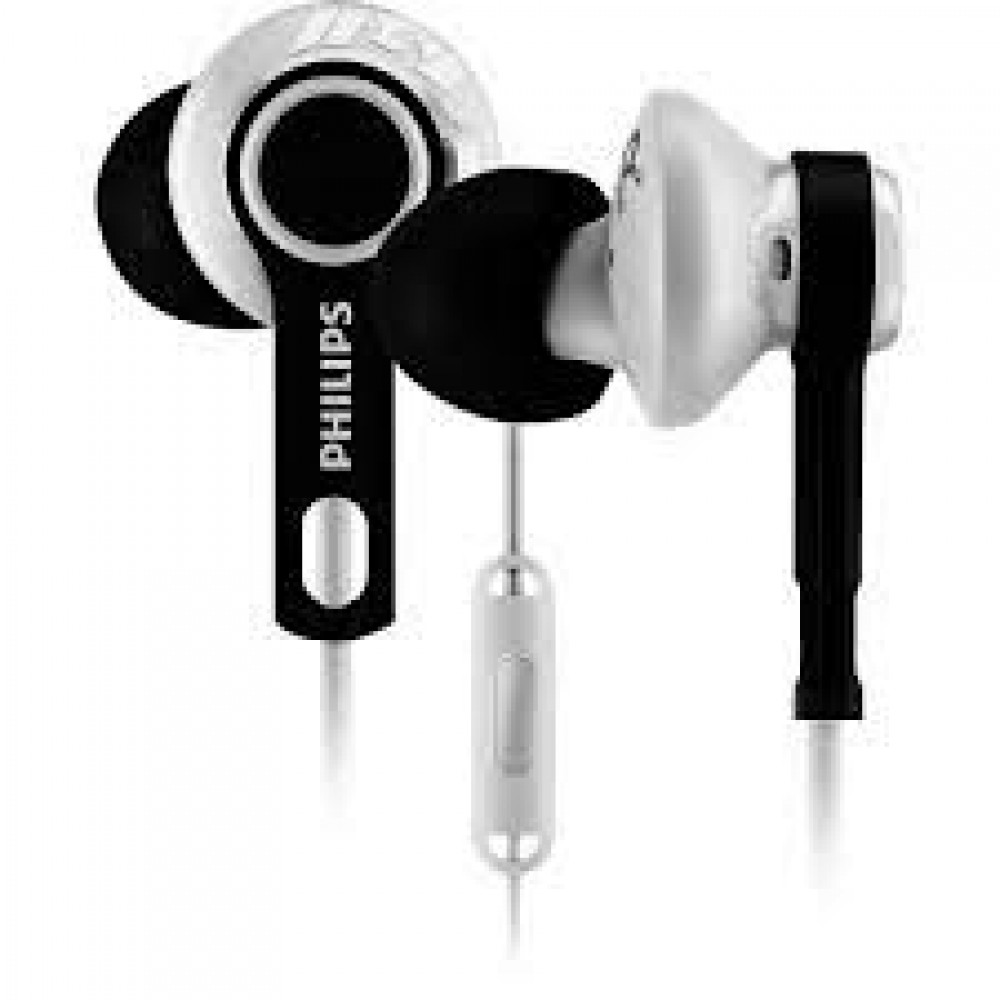 Philips Action Fit Sports Headphones / Mic White