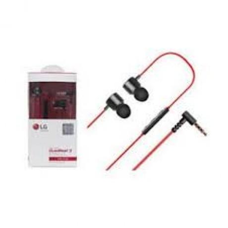 LG Stereo Headset Earphones Red