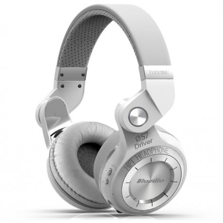 Bluedio T2S Bluetooth Stereo Headphones - White