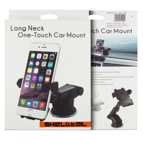 Long Neck Easy One Touch Car Mount,Windshield Phone Holder