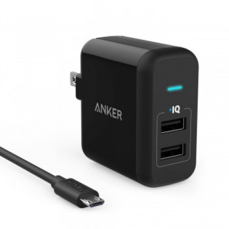 ANKER Powerport 2 & Micro USB CABLE,Plus Cable,Black,B2021K11,Guarantee