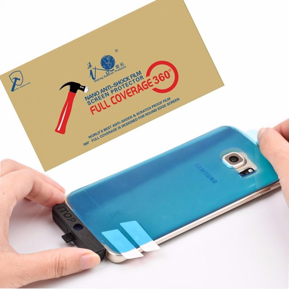 nano anti shock film screen protector 3D full coverage clear nano film for galaxy s8 screen protector