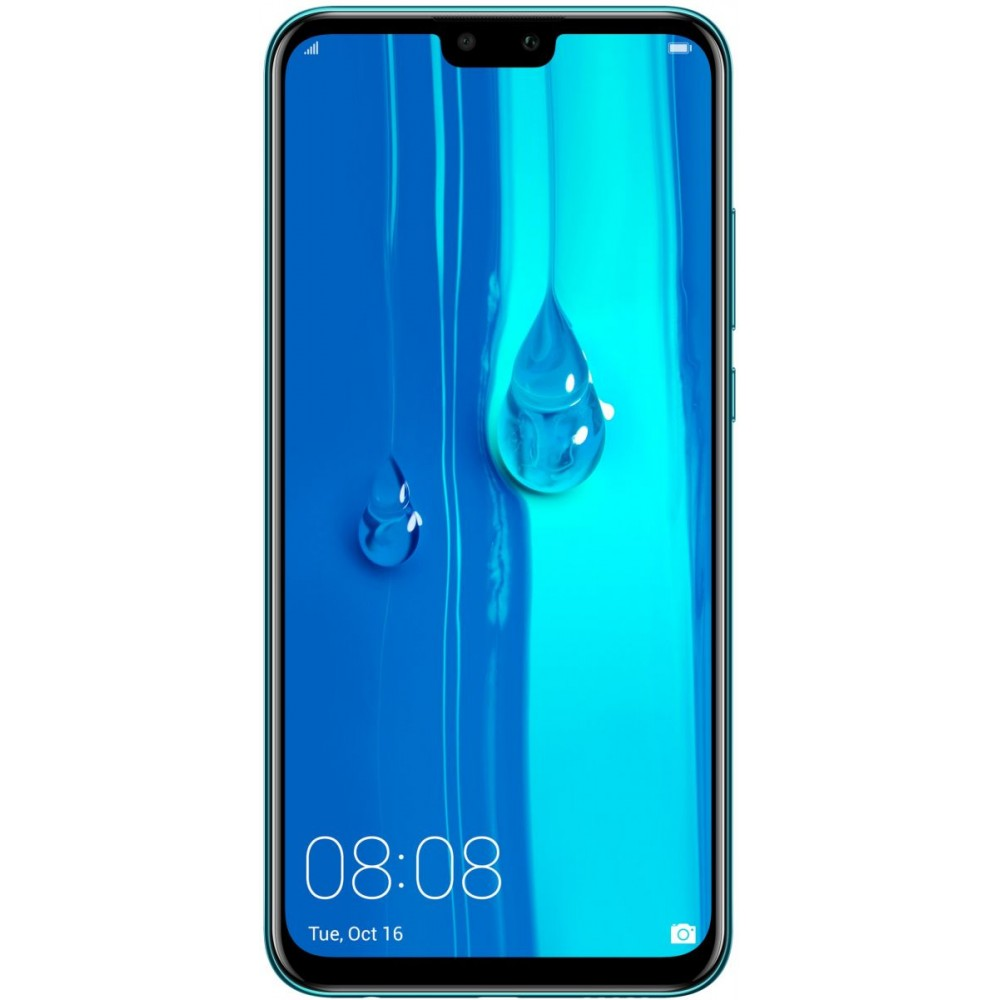 Huawei Y9 2019 Dual SIM - 64GB, 4GB RAM, 4G LTE, Arabic Blue