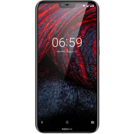 Nokia 6.1 Plus Dual Sim - 64GB, 4GB RAM, 4G LTE, Black