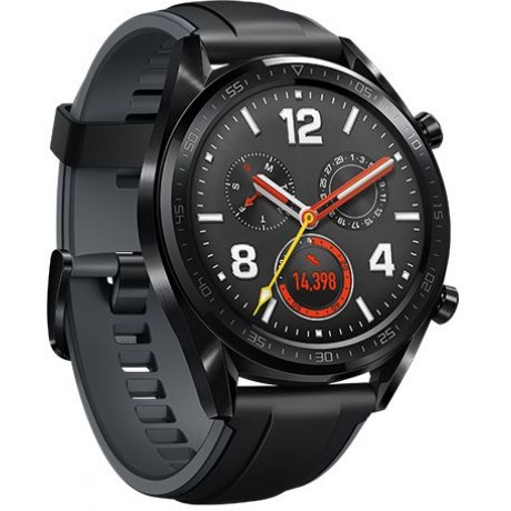 HUAWEI WATCH GT Sport, Black Rubber Graphite Black Sport Strap V401