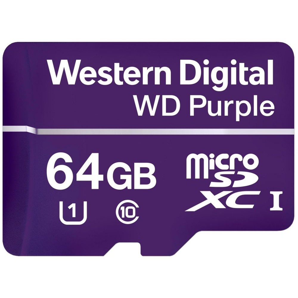 Western Digital Purple Memory Card 64 GB microSDXC Class 10 - WDD064G1P0A