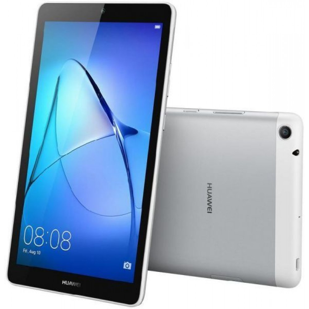Huawei Tablet T3-7 , Screen 7 inch, Tablet Touch Android 8 GB, 1GB RAM, Wifi, Bluetooth, Moonlight Silver Color
