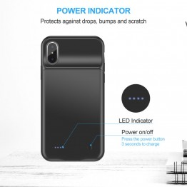 CHOETECH Battery Case iPhone X External Housing Ultra Thin Battery Rechargeable Portable