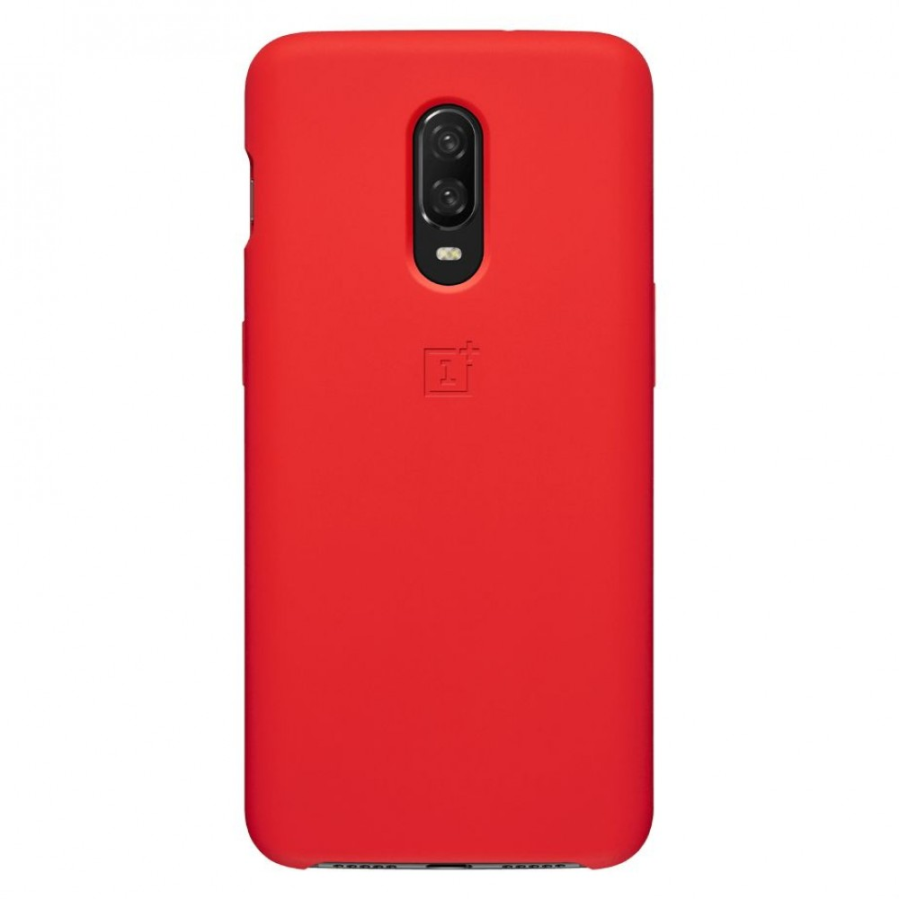 OnePlus 6T ,Silicone Protective Case, Red